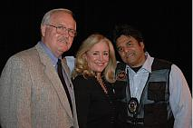 Sheriff Mike Brown of Operation Blue Ridge Thunder, EIE President Donna Rice Hughes and actor Erik Estrada of CHiPs
